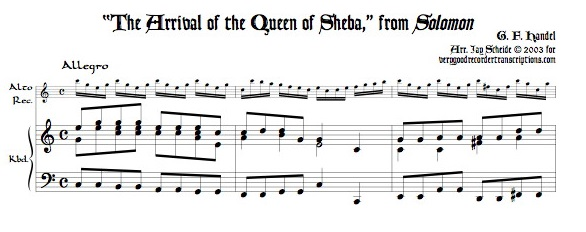 """The Arrival of the Queen of Sheba,"" from *Solomon*"