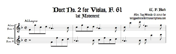 Duet No. 2 for Violas, F. 61