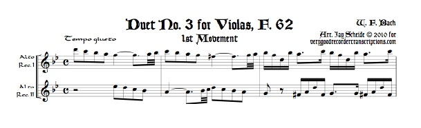 Duet No. 3 for Violas, F. 62
