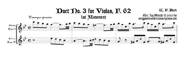 Duet No. 3 for Violas, F. 62