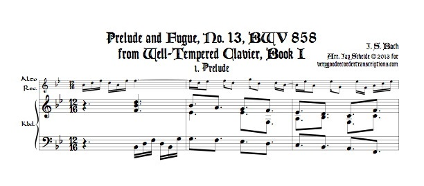 Prélude and Fugue No. 13, BWV 858