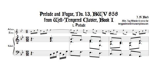 Prélude and Fugue No. 13, BWV 858