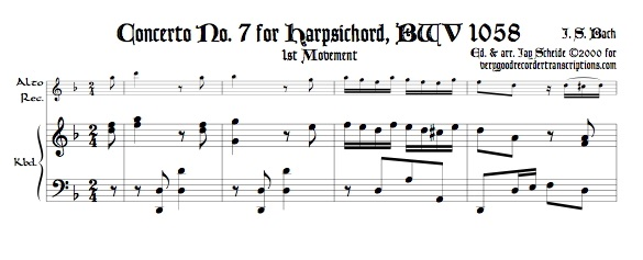 Concerto No. 7, BWV 1058
