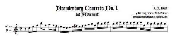 No. 1, BWV 1046, 1st three Mvmts.
