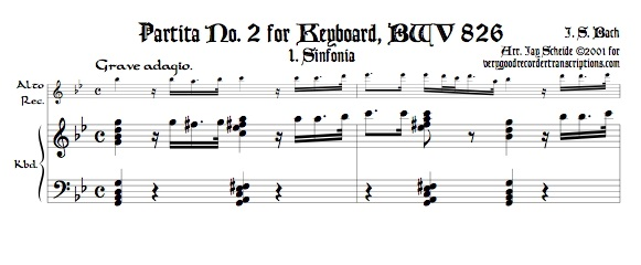 Sinfonia from Partita No. 2, BWV 826