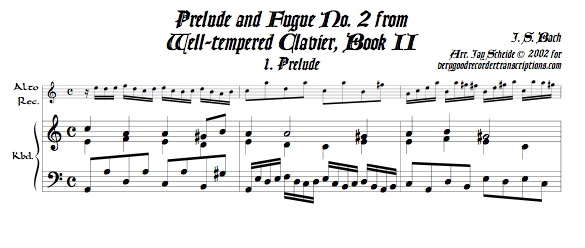 Prélude and Fugue No. 2, BWV 871