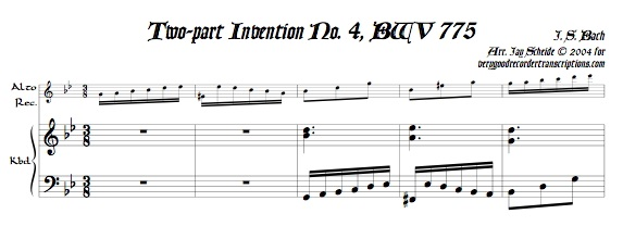 2-part Invention No. 4, BWV 775