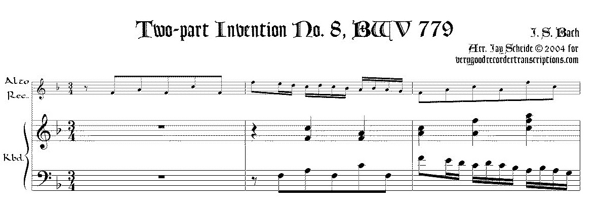 2-part Invention No. 8, BWV 779