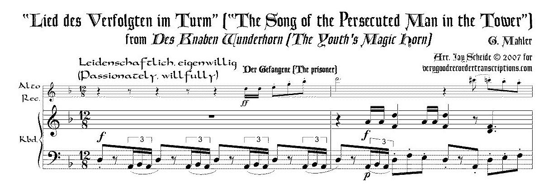 """Lied des Verfolgten im Turm,"" from *Des Knaben Wunderhorn*"