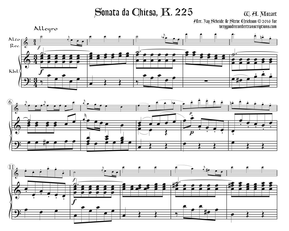 Sonata da Chiesa, K. 225