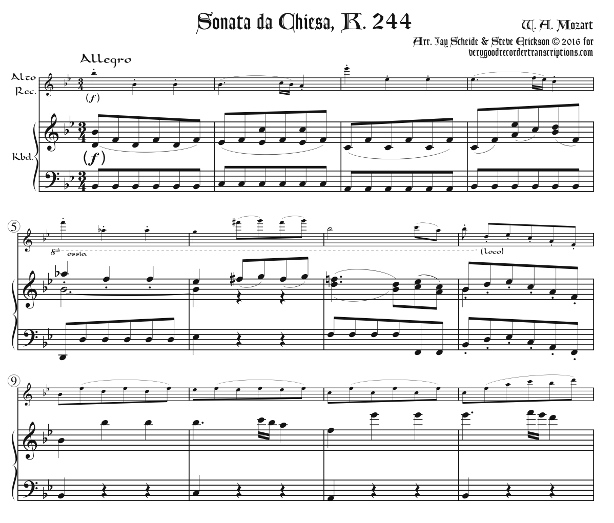 Sonata da Chiesa, K. 244