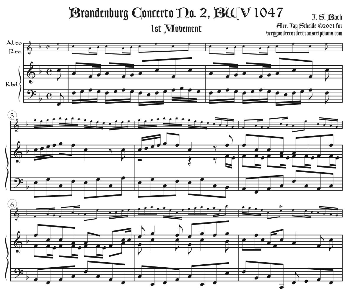 Brandenburg Concerto No. 2, BWV 1047