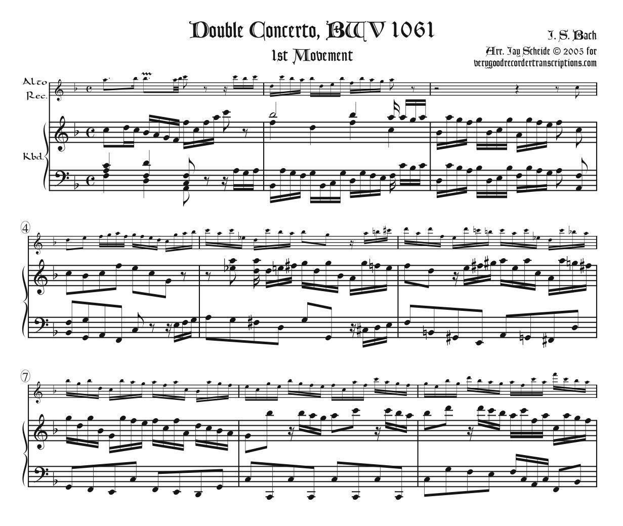Concerto No. 2 for 2 Harpsichords, BWV 1061, 1st Mvt.