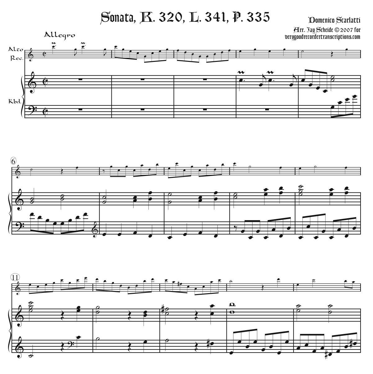 Sonata, K. 320, L. 341, P. 335