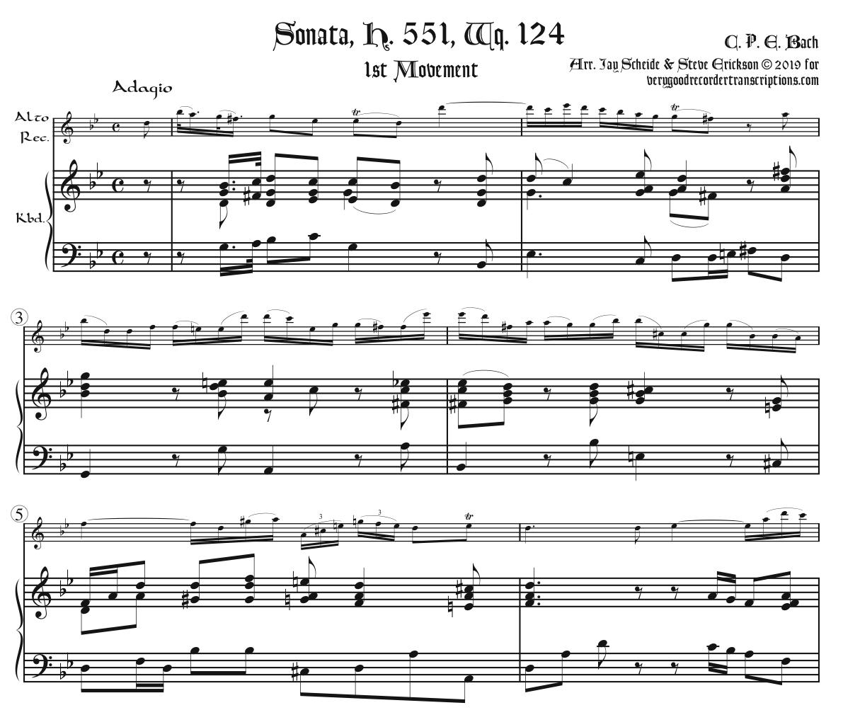 Sonata, H. 552, Wq. 124, complete