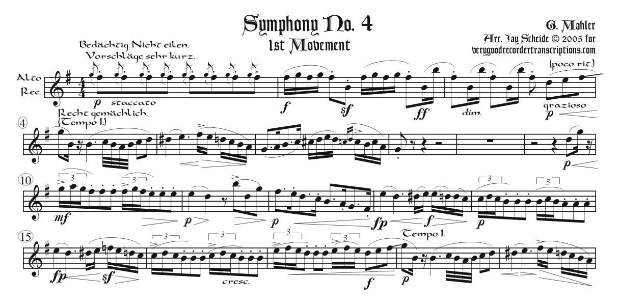 Three Movements, two for alto recorder & one for soprano