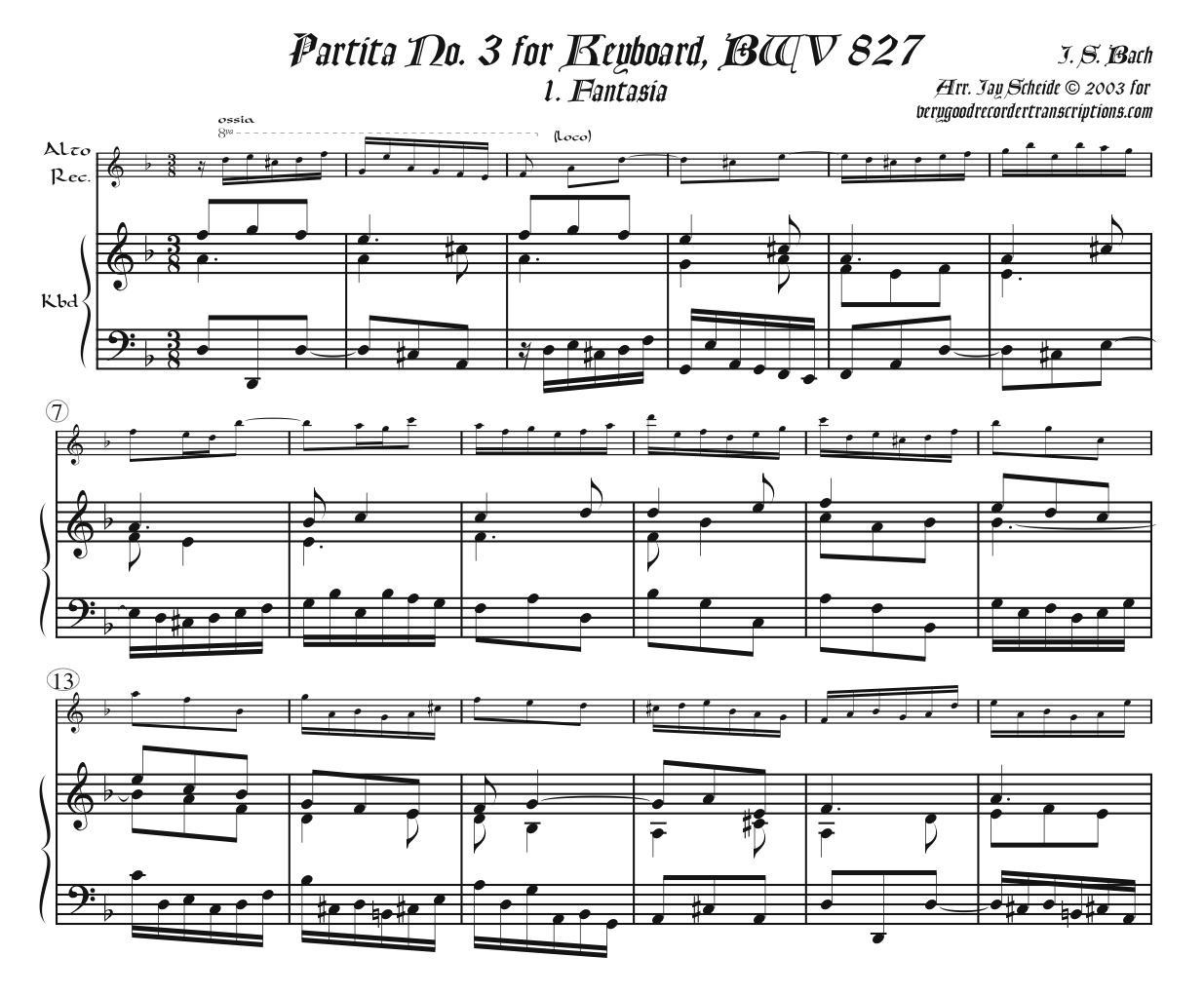 Partita No. 3 Complete, BWV 827