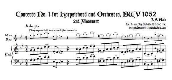 Concerto No. 1, BWV 1052, Adagio