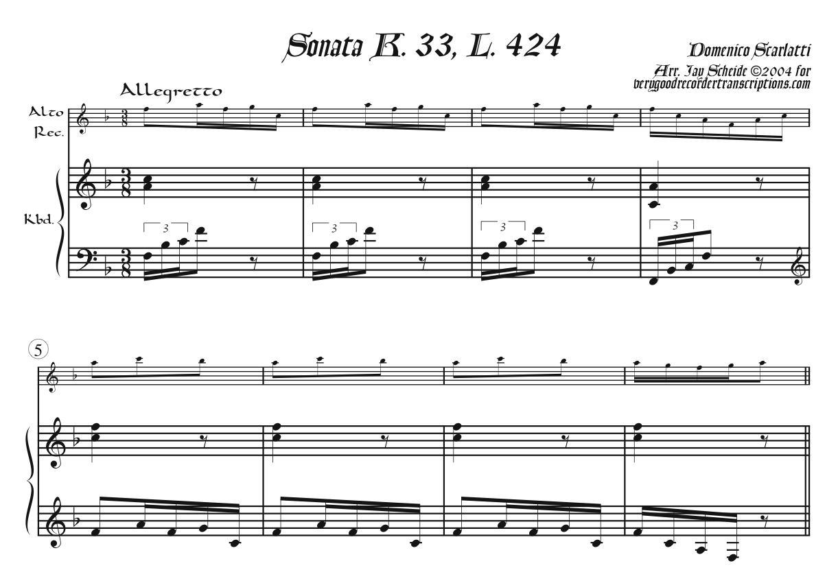 Sonata K. 33, L. 424, P. 130