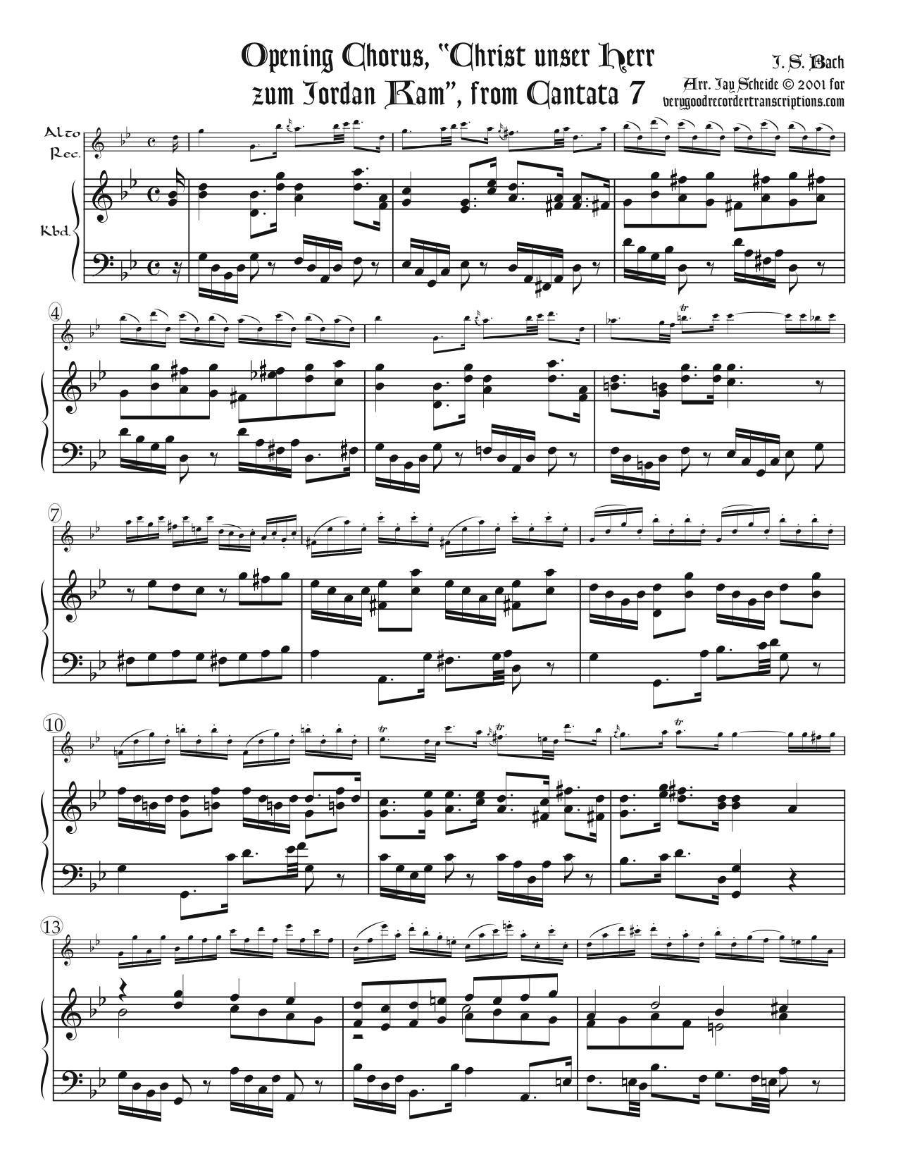 "Opening Chorus, ""Christ unser Herr zum Jordan kam,"" from Cantata 7"