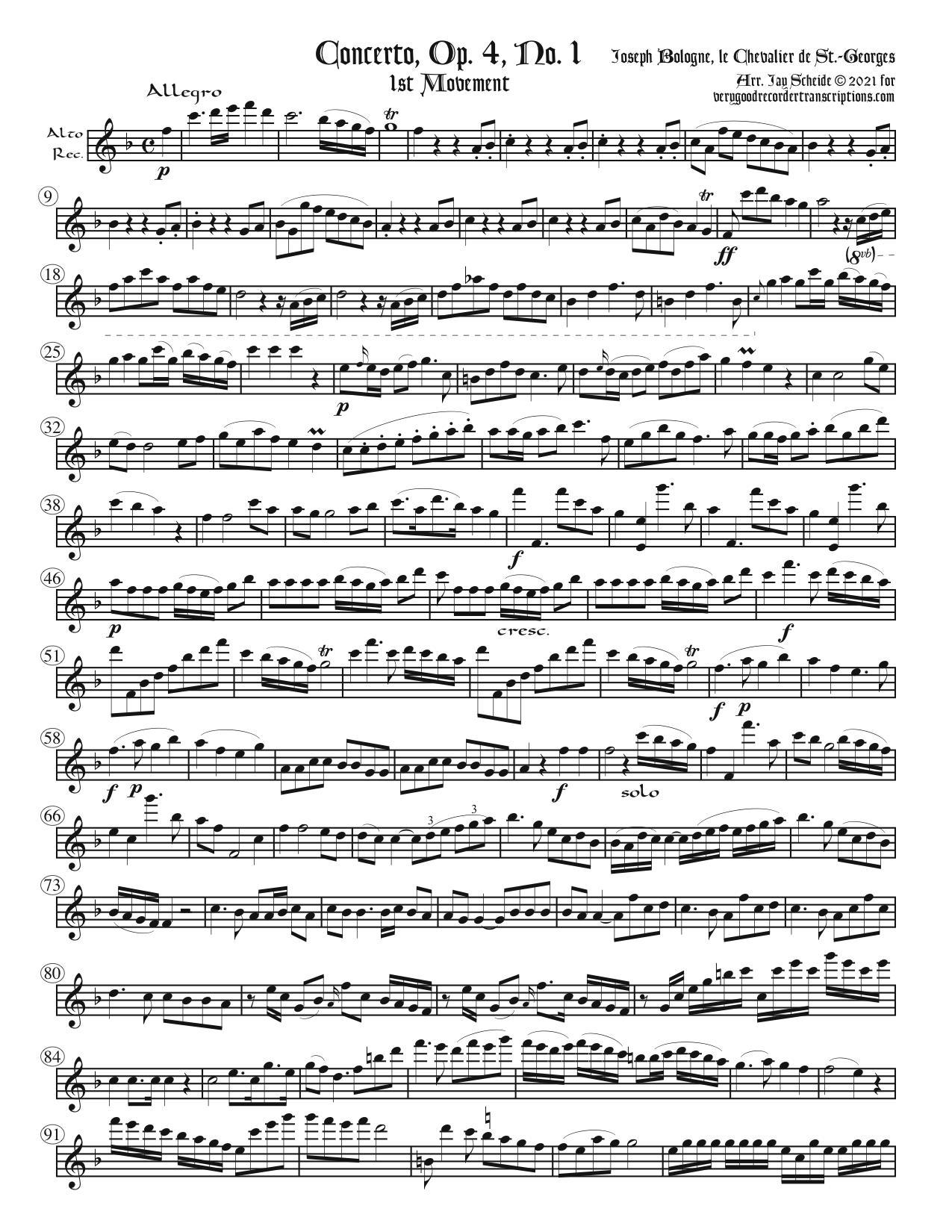 Concerto, Op. 4, No. 1