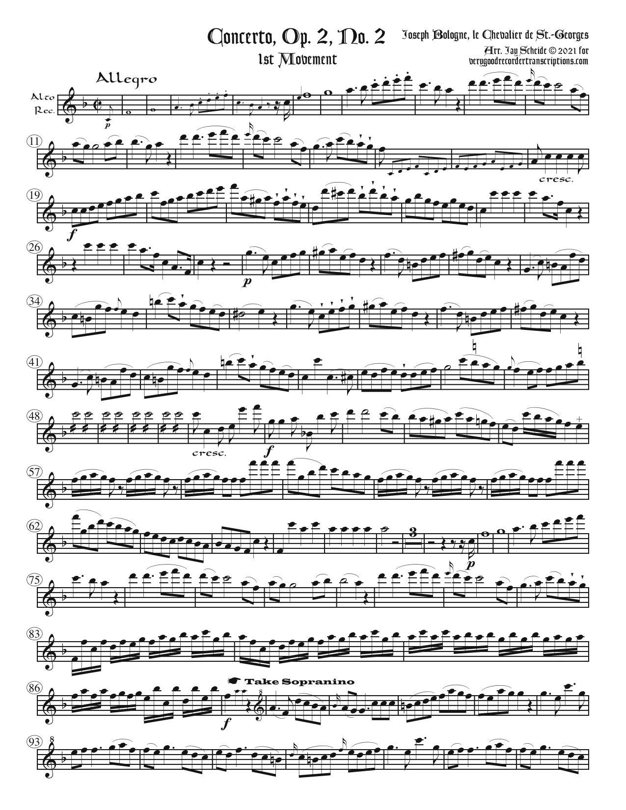 Concerto, Op. 2, No. 2