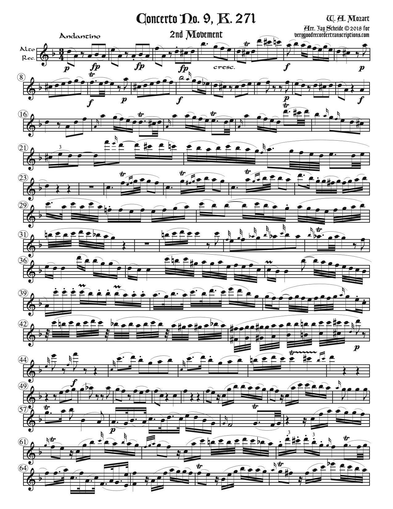 Five slow movements from the Piano Concertos