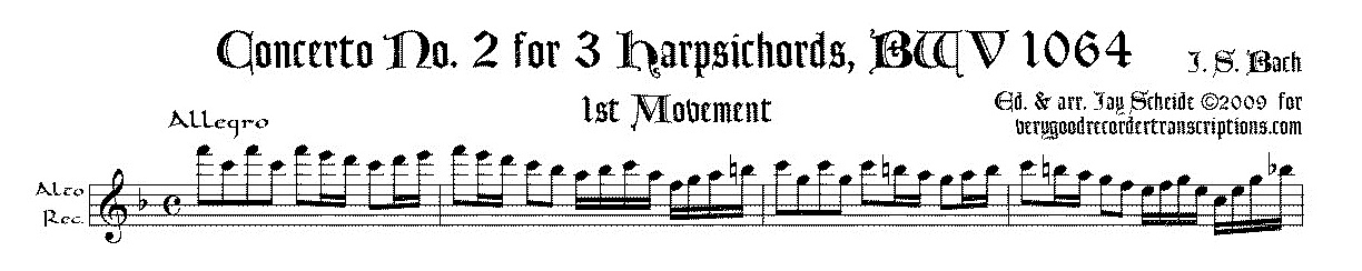 Concerto No. 2 for 3 Harpsichords, BWV 1064