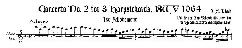 Concerto No. 2 for 3 Harpsichords, BWV 1064