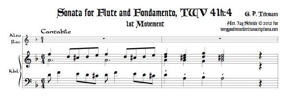 Sonata for Flute & Fondamento TWV 41h:4