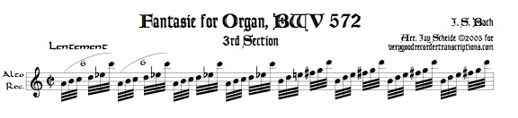 Gavotte I & II from Suite No. 5, BWV 1011 (See also