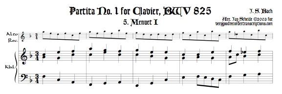 Menuet I & II from Partita No. 1, BWV 825