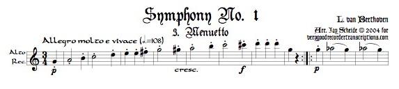 Menuetto & Trio from Symphony No. 1