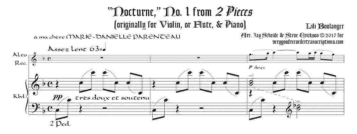 Nocturne, originally for Violin/Flute and Piano
