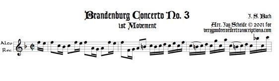 No. 3, BWV 1048, 1st Mvmt.