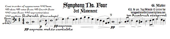 Symphony No. 4, 3rd Mvmt. (Requires many different sizes of recorders)