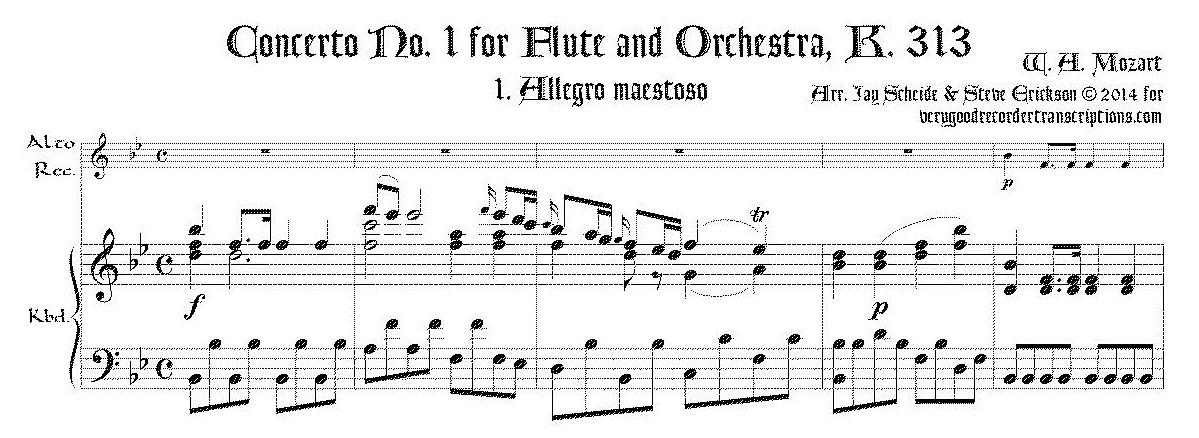 Concerto No. 1 for Flute & Orchestra, K.313