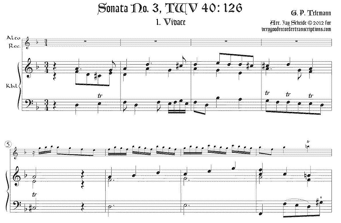 Sonata (Duet) TWV 40:126