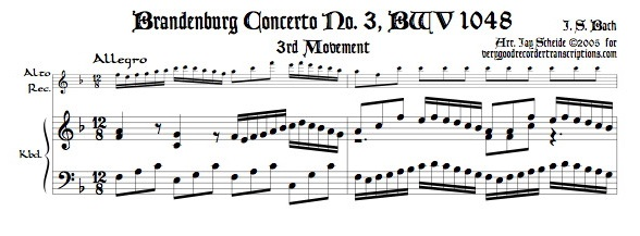 Third movement from Brandenburg Concerto No. 3, BWV 1048
