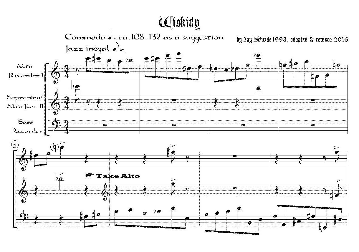 Wiskidy (Recorder Trio)
