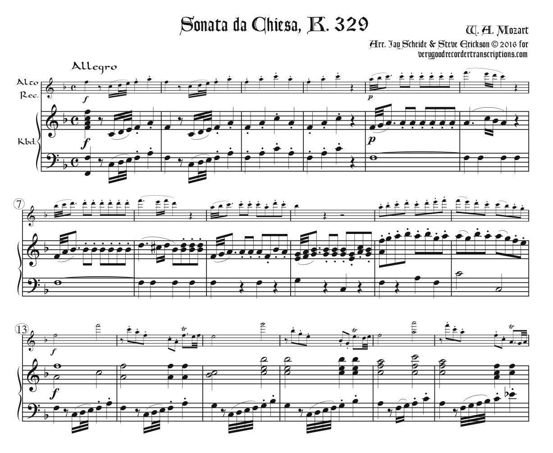Sonata da Chiesa, K. 329