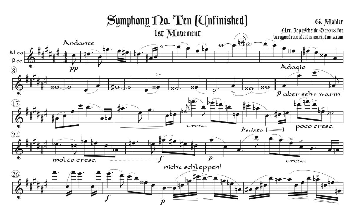 Symphony No. 10 (Unfinished)
