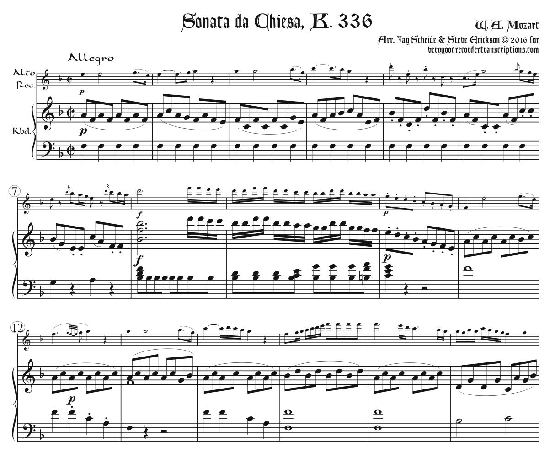 Sonata da Chiesa, K. 336