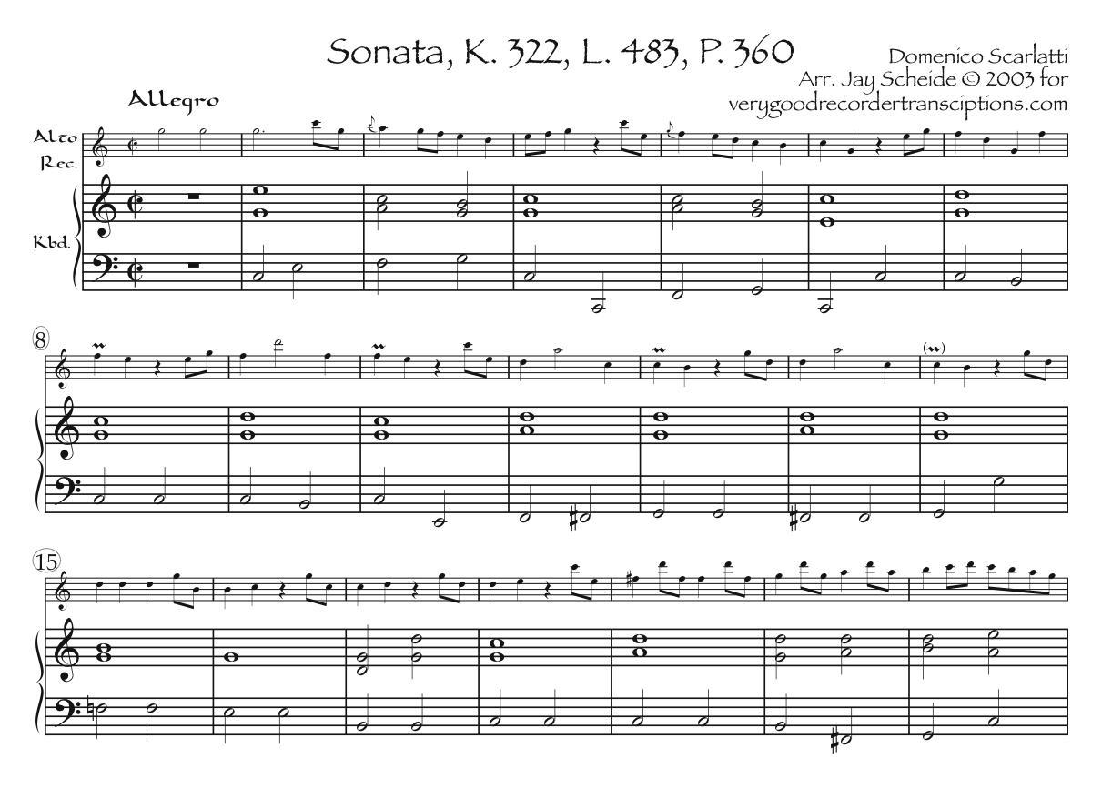 Sonata, K. 322, L. 483, P. 360