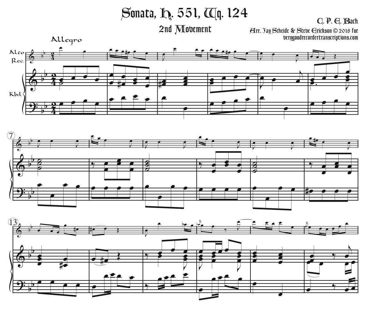 Sonata, H. 551, Wq. 124, complete