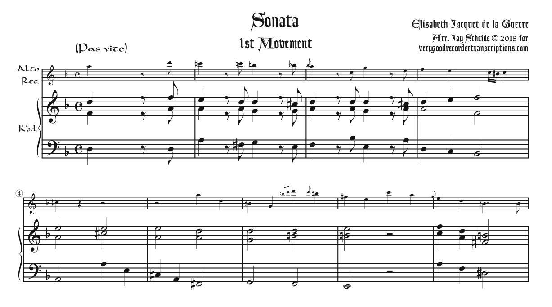 Sonata, 1st Two Mvmts.