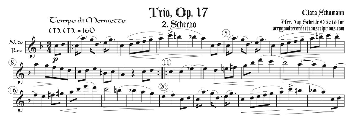 Scherzo from Trio, Op. 17