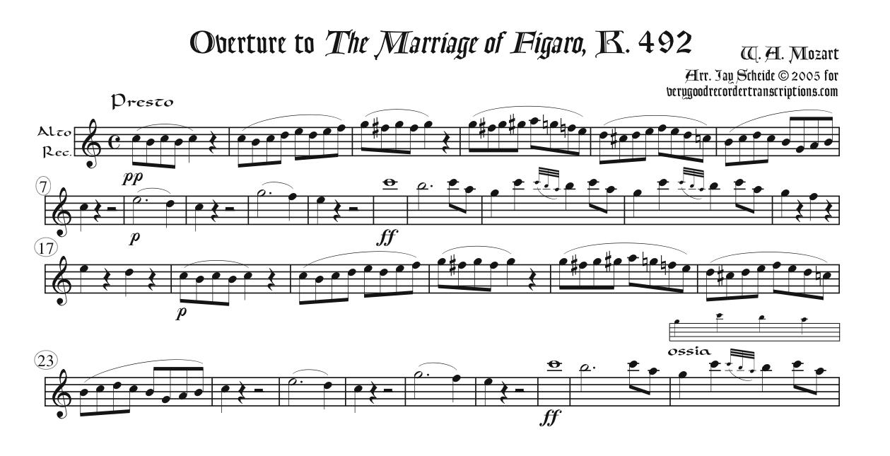 Overture to *The Marriage of Figaro*, K. 492