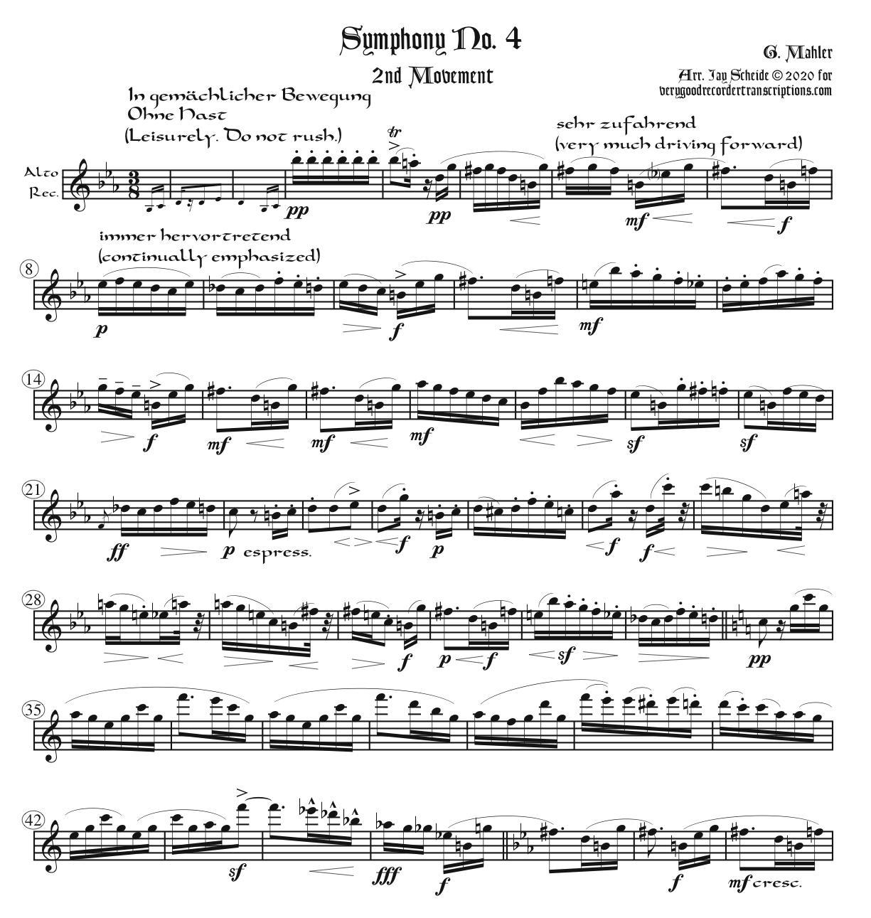 2nd Mvt. from Symphony No. 4