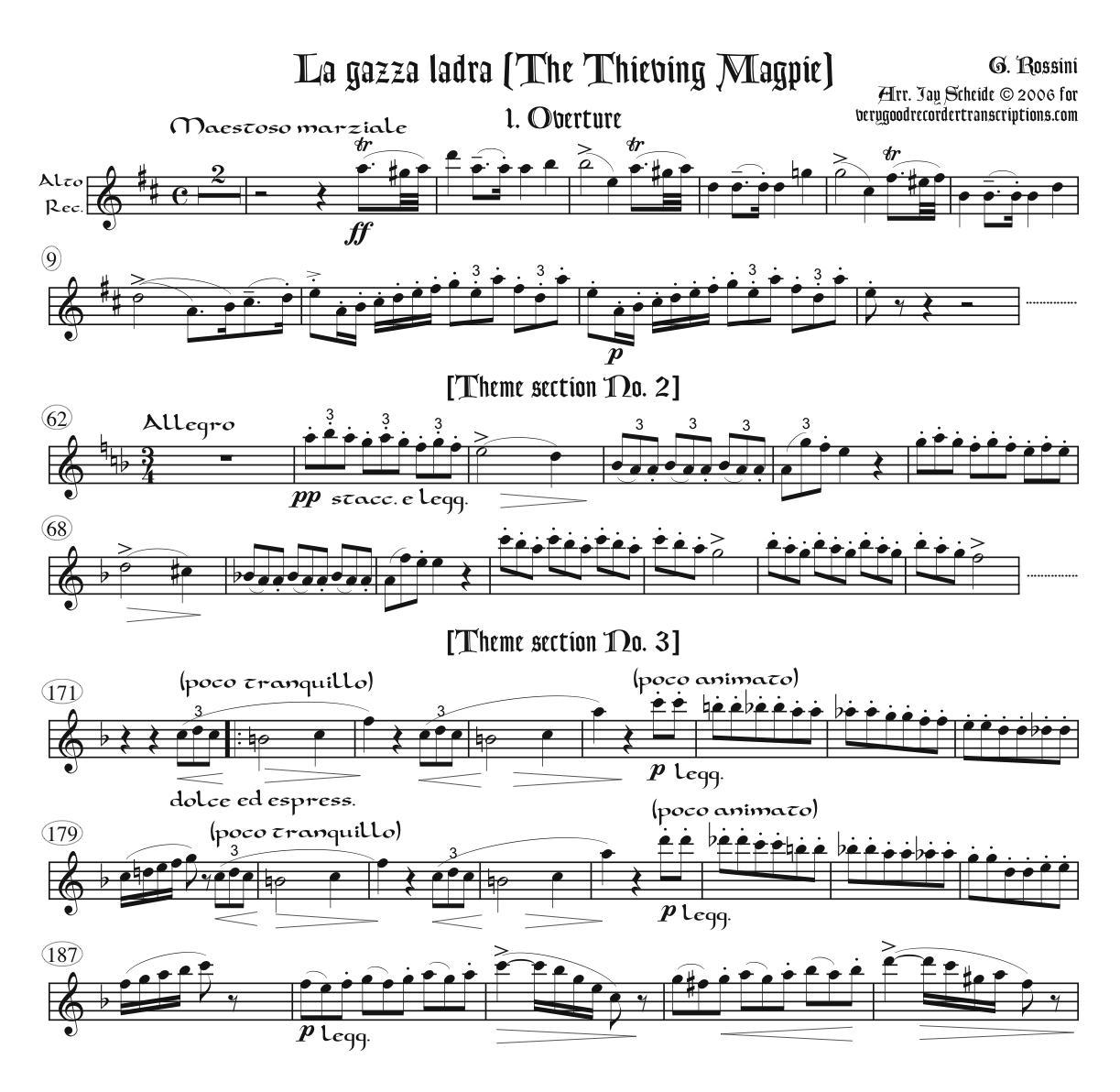 Overture to *La gazza ladra* (The Thieving Magpie)